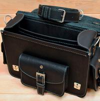неклассический черный мужской портфель