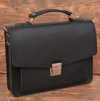 Классический портфель коньячного цвета