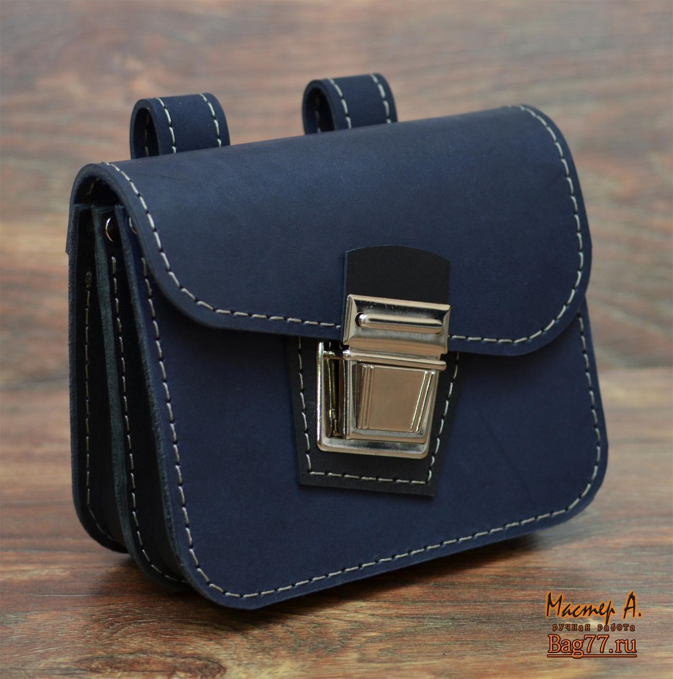 5463c2dcf95d Небольшая сумка-болтанка для ношения на поясе « Bag77.ru — кожаные ...
