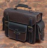 Стильный неклассический кожаный портфель