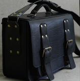 большой черный портфель ручной работы