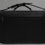 очень большой черный кожаный портфель