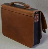 портфель из толстой кожи под документы А4