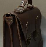 оригинальный кожаный коричневый портфель