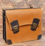 необычный кожаный портфель