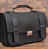 Оригинальный серо-черный портфель