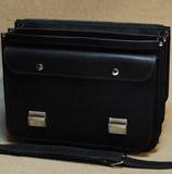 мужской черный кожаный портфель