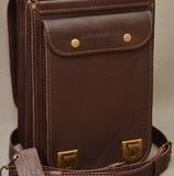 вертикальный кожаный портфель