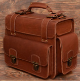 Крупный коричневый портфель для мужчины