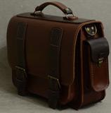 Красивый двухцветный кожаный портфель