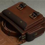 портфель коньячно-коричневого цвета