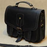 стильный черный портфель