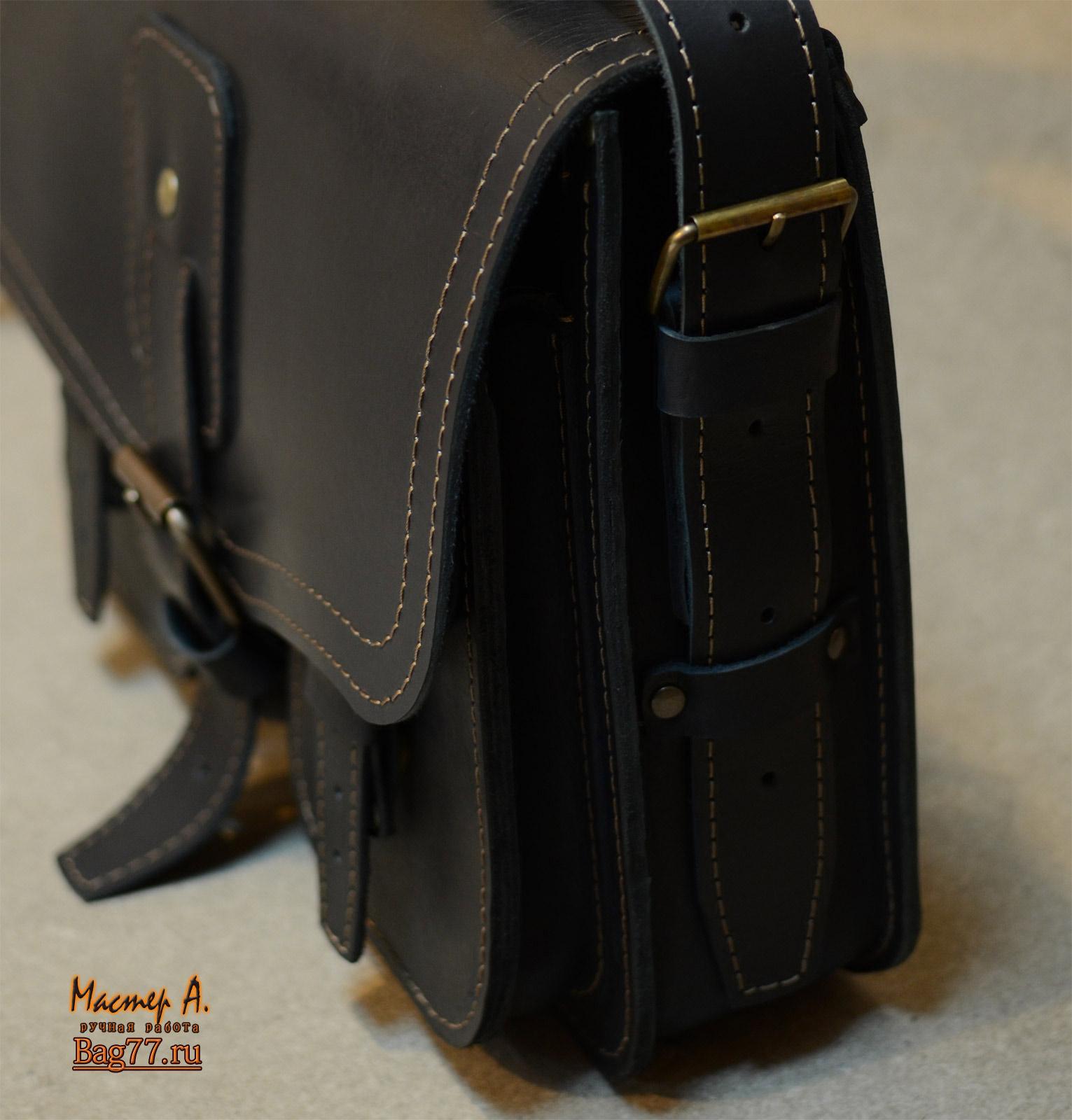 b049e4dde2ac Стильный мужской черный портфель ручной работы « Bag77.ru — кожаные ...