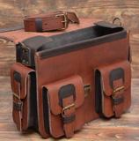 Мужской портфель цвета хаки