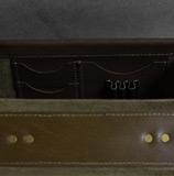 вместительный кожаный портфель