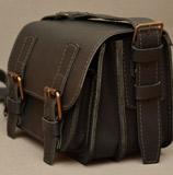 мужская сумка из толстой коричневой кожи