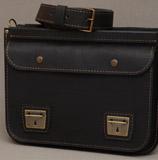 узкий кожаный портфель