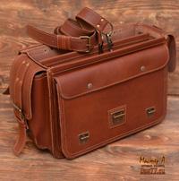 оригинальный  портфель из толстой кожи