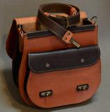коньячно-коричневая женская сумочка