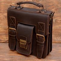 коричневая мужская сумка