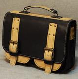 бежево-черный мужской портфель
