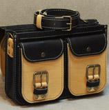 небольшой мужской портфель с 2 карманами спереди