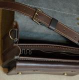 Кожаный портфель ручной работы на 2 отделения