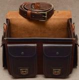 толстый портфель коньячно-коричневого цвета