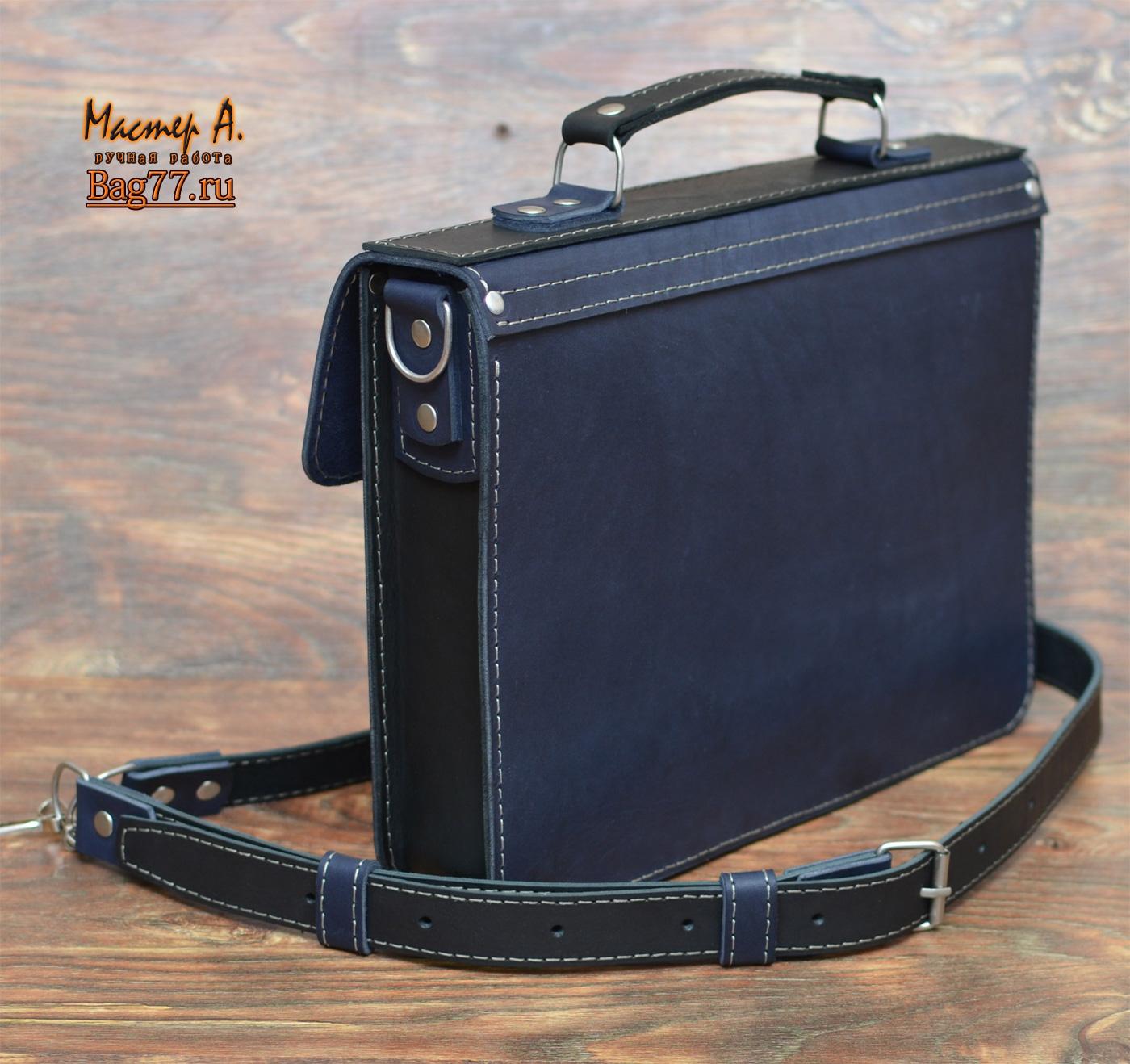 383c6e0a9cf8 Оригинальный мужской портфель ручной работы « Bag77.ru — кожаные ...