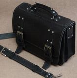 портфель с фурнитурой под старое серебро