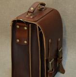 коньячный мужской портфель