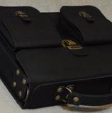 легкий мужской портфель из толстой кожи