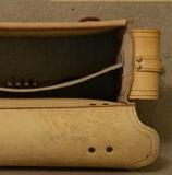 портфель из бежевого чепрака