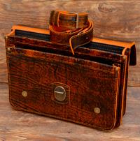Оригинальный портфель из состаренной апельсиновой кожи