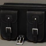 черный кожаный мужской портфель
