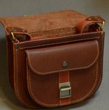 женская сумочка коньячного цвета