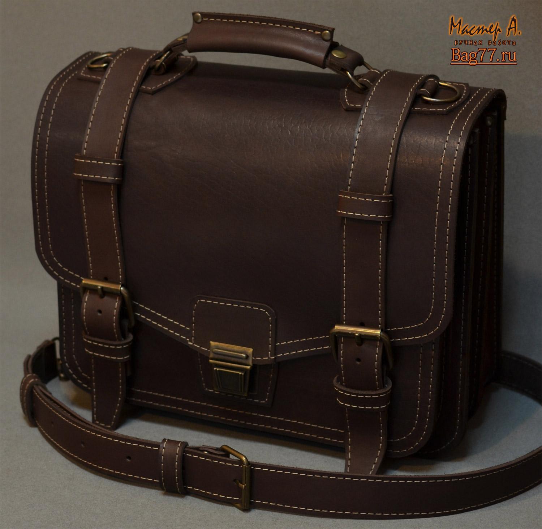97eb182f5dc6 Большой мужской портфель ручной работы « Bag77.ru — кожаные сумки и ...