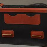 двухцветная мужская сумка на каждый день