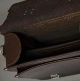 кожаный мужской портфель формата А3