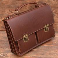 лаконичный кожаный портфель