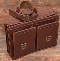 классический кожаный портфель