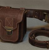 кожаная напоясная сумка-болтанка