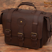 большой коричневый  портфель