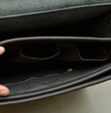 Большой черный мужской портфель