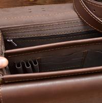 Стильный коричневый портфель ручной работы