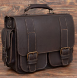 Большой коричневый портфель ручной работы