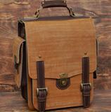 Крупный двухцветный портфель