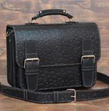 Вместительный серый портфель
