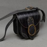 Черно-серая женская барсетка