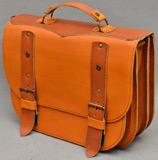Крупный двухцветный женский портфель